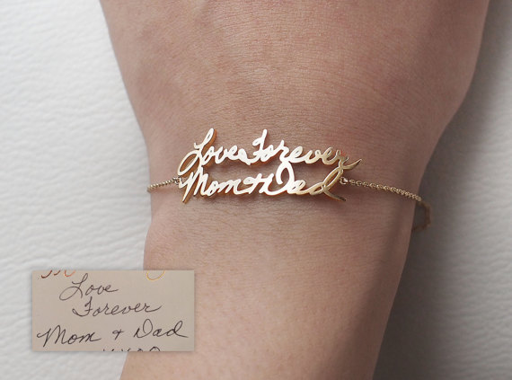 d91ba82556f50 20% OFF*- Actual Handwriting Bracelet - Personalized Memorial ...