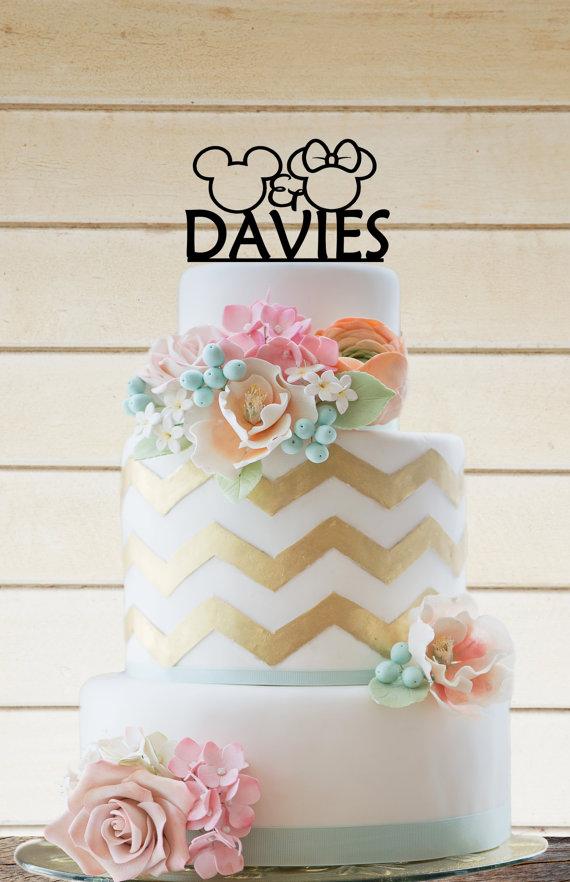 زفاف - Wedding Cake topper Disney Wedding (Item number 10269)