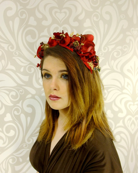f74962f21078e Red And Gold Flower Crown