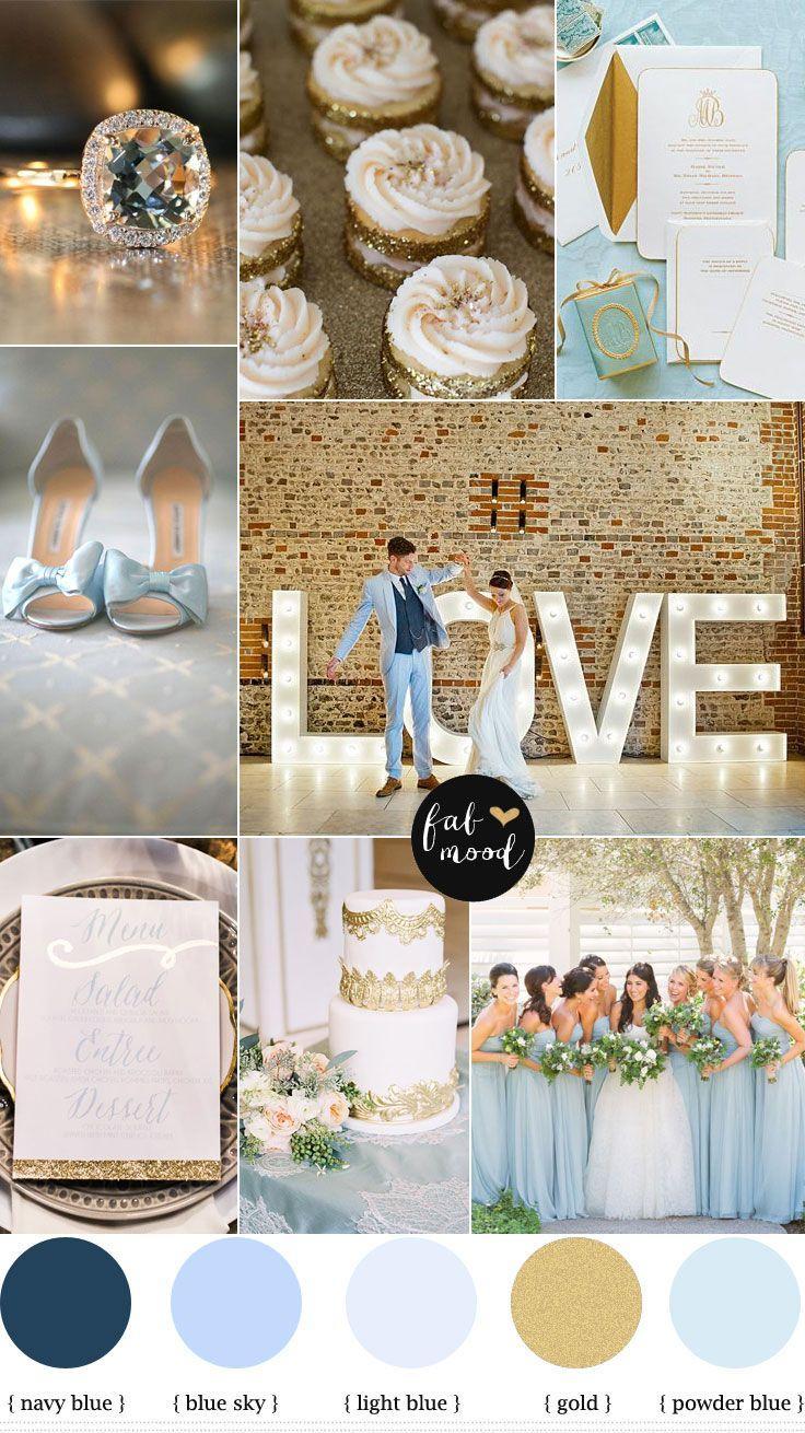 زفاف - Blue And Gold Wedding Theme