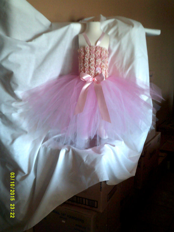 Mariage - Tutu Dress 55.00, Any Size Any Color/Flower Girl Dress/Wedding Dress/Flowergirl/Flower Girl Dress/Tutu Dress/Size 1T-6 Years/Baby Tutu