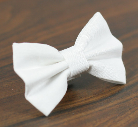 Свадьба - Cat or Dog Bow Tie - Simply White