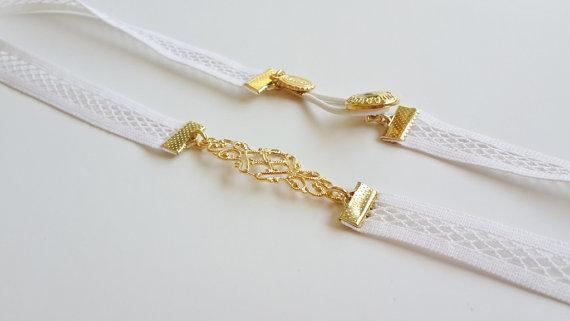 Mariage - White Bridal Belt - Gold Belt - Wedding Belt - net belt - Wedding Dress Belt - Wedding Gown Belt - Strech Belt - Bridal Accessories - skinny