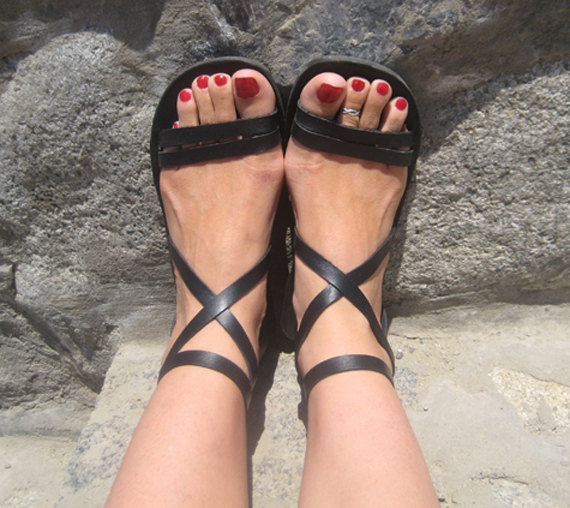 Wedding - Strappy Sandals, Comfortable Leather Sandals, Ankle Strap - Epic