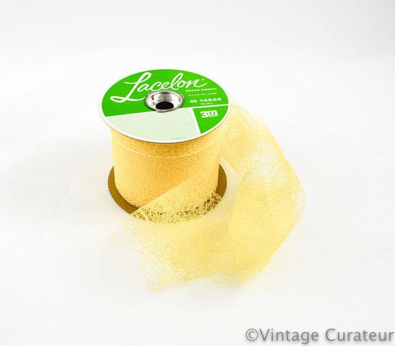 Свадьба - Vintage Yellow Lacelon Ribbon: 3 inches