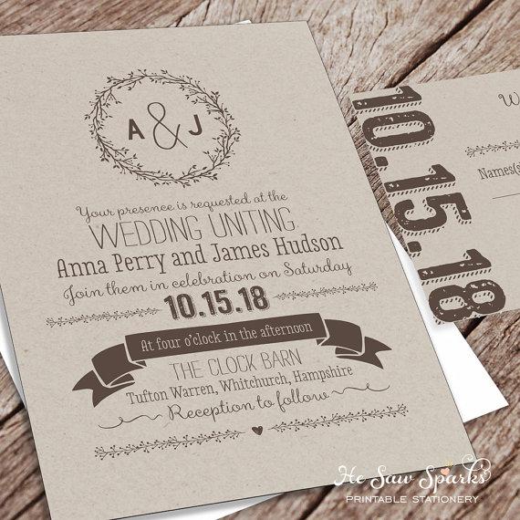 Printable Wedding Invitation Package Kraft 2346468 Weddbook