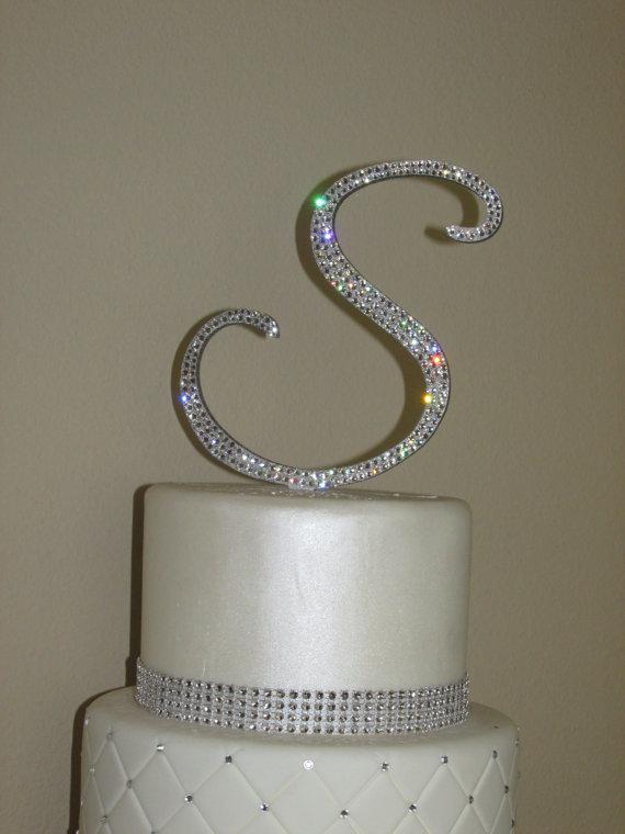 Wedding Cake Topper Letter M