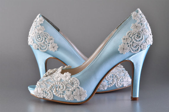 Wedding Shoes Accessories Womens Bridal Vintage Lace P Toe 3 1 4 Heels Pb525a Customized Women S