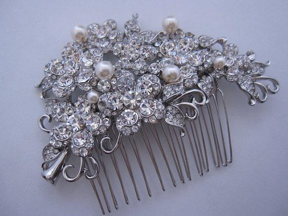 Wedding - Pearl bridal hair comb wedding hair comb wedding accessory bridal hair accessory wedding headpiece bridal hair piece wedding hair piece