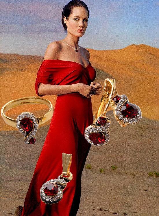 Свадьба - Claret Red Set, Bridesmaids Set, Wedding Jewelry Set, Swarovski stones set, Wedding Party Jewelry, Free Shipping,Free Shipping