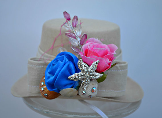 Свадьба - Top Hat - Floral Seashell Dog, Wedding, Ring Bearer