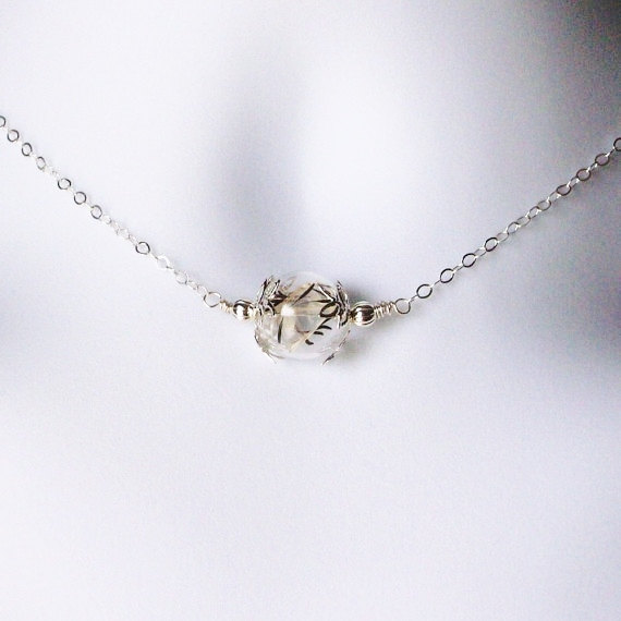 Mariage - Wish Necklace - Silver Dandelion Necklace - Dandelion Seed Necklace - Sterling Silver Necklace, Bridal Gifts, Christmas Gifts