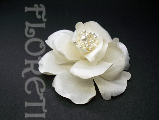 Mariage - Couture Ivory Magnolia Bridal Hair Flower Accessory French Silk Flower Wedding Veil Clip Small Ready-Made