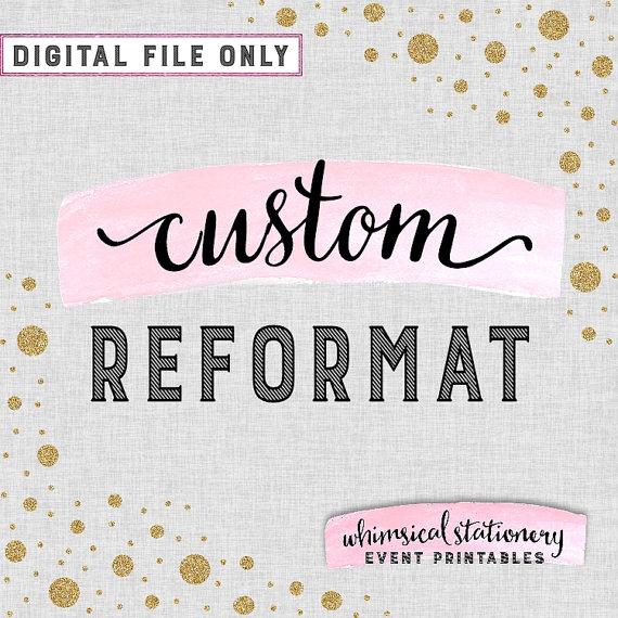 Свадьба - Custom Reformat