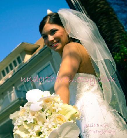 Wedding - SOFT TULLE Crystal Elbow Length Sparkle 2 Tier Wedding Veil, Winter Woodland Wedding