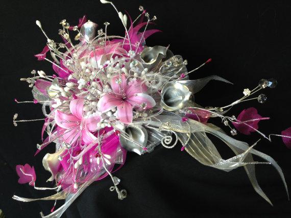 Свадьба - Wedding bouquet set/ Juego de Ramos para Novia/Bridal Party Boquets/ ramo de novia/ ramo de quince