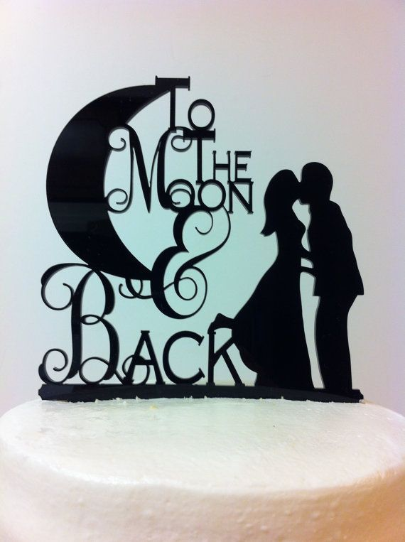 Bicycle Silhouette Cake Topper