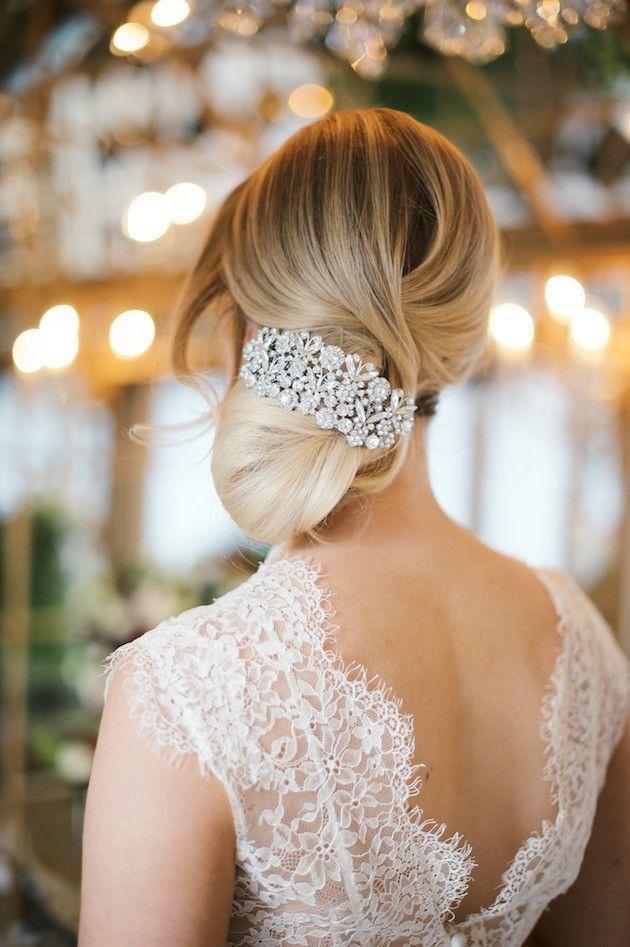 Свадьба - Wedding Hair Inspiration: 12 Gorgeous Low Buns
