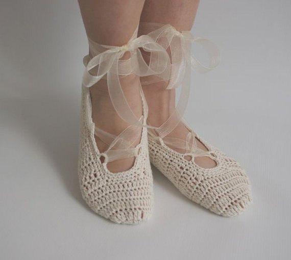 Свадьба - Bridal wedding dance shoes slippers Cream Bridal Party Bridesmaid