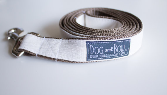 Свадьба - Ivory Linen Dog Leash by Dog and Bow