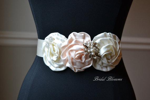 Mariage - EMMA Vintage Inspired Bridal Sash