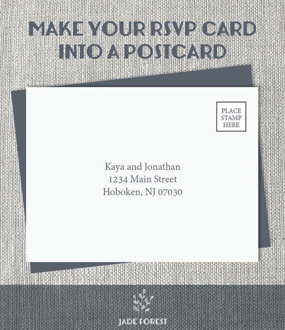 زفاف - Make the RSVP Card into a Postcard ▷ Design Upgrade