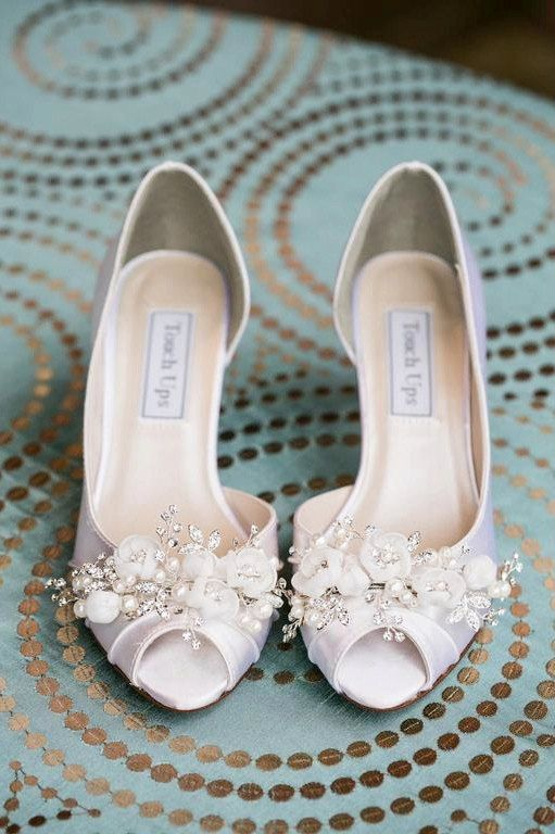 5344c72d0 Handmade Wedding Shoes - Swarovski Crystals And Pearls - Choose From Over  100 Shoe Colors - Short Wedding Heel Peep Toe Shoes For Wedding