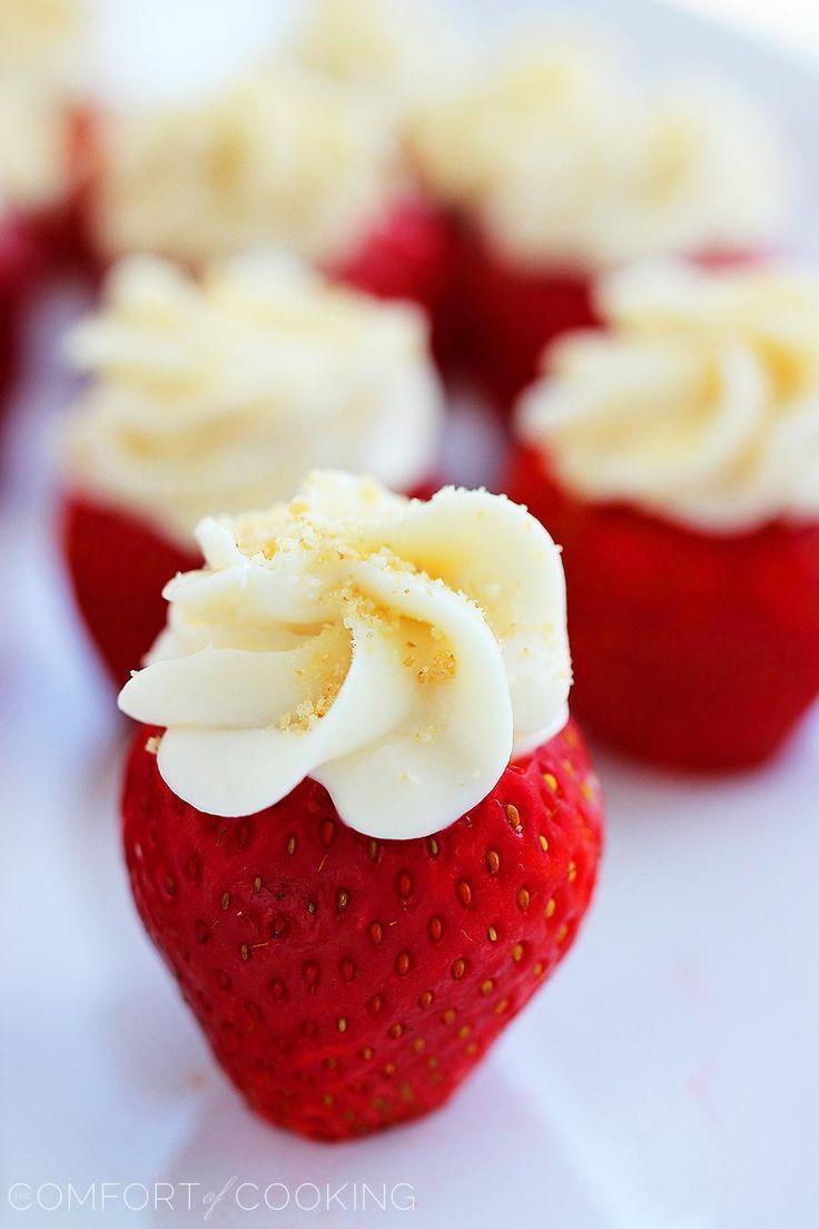 زفاف - Cheesecake Stuffed Strawberries