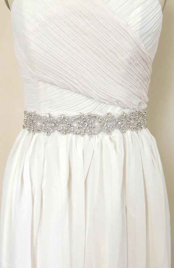 Свадьба - RYLEE - Crystal Bridal Belt Sash - Rhinestone wedding gown sash - Wedding Dress Belt