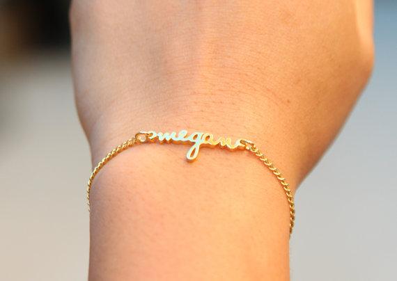 Personalized Dainty Name Bracelet Children Name Bracelet Tiny Name