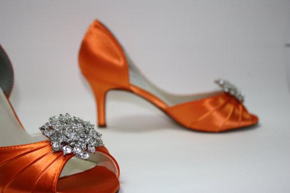 Wedding - Wedding Shoes - Orange Shoes - Orange Wedding - Choose Over 100 Colors - Orange Wedding Shoe - Parisxox Shoes - Custom Shoes - Bespoke Shoes