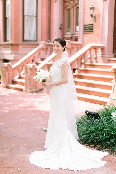 Hochzeit - Waltz length Wedding Bridal Veil 54 inches white, ivory, Wedding veil Long bridal Veil Waltz floor length veil bridal veil cut edge veil