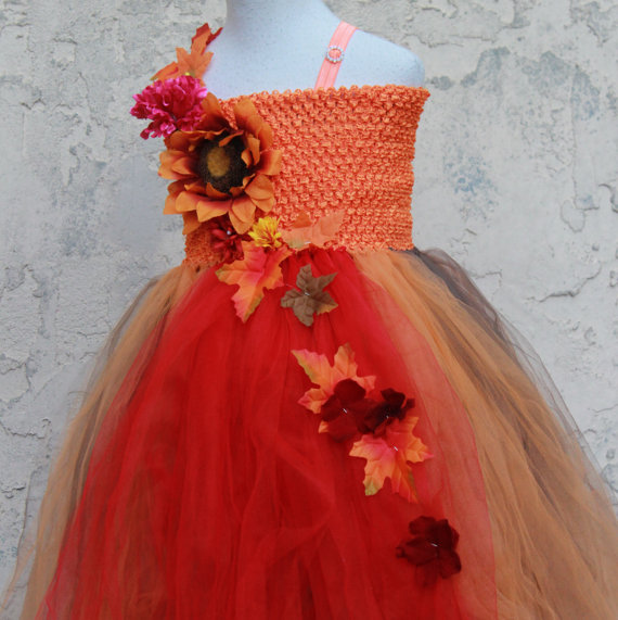 Fall Tutu Dress - Fall Flower Girl Dress - Autumn Dress Fall ...