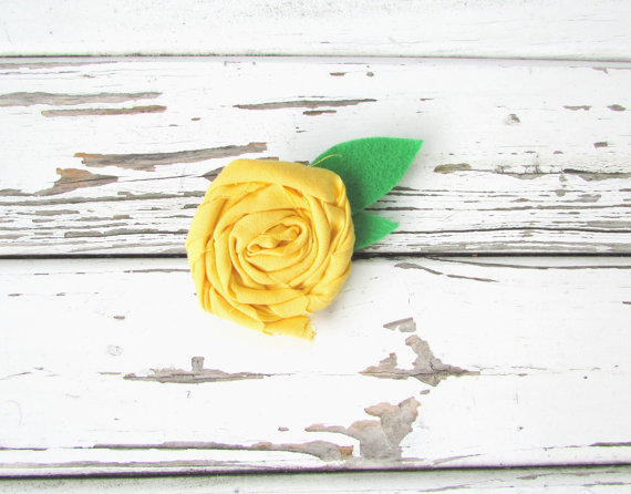 Свадьба - Dog Collar Flower Attachment-Yellow Rosette