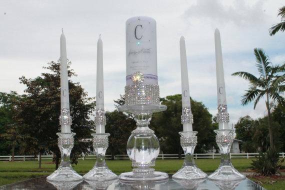 Mariage - Pure Diamond Family Unity Candle Set