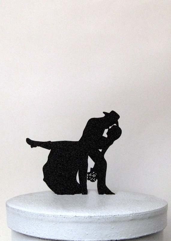 Свадьба - Wedding Cake Topper - Country & Western Wedding 3