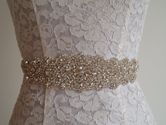 Mariage - Wedding Sash Crystal Bridal Belt Wedding Dress Belt rhinestone sashes belts crystal