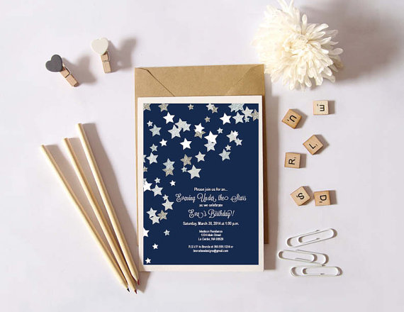 instant download under the stars glitter silver stars against a