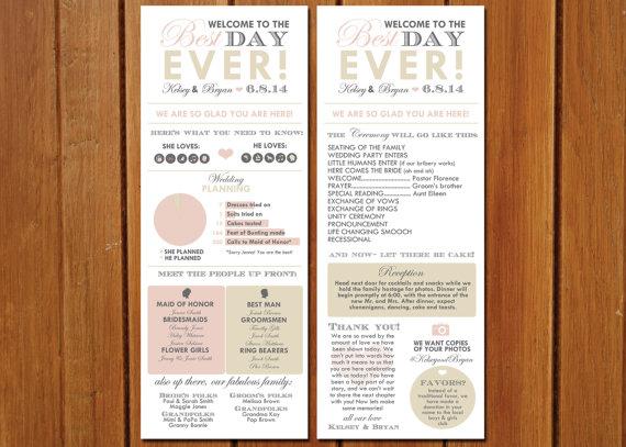 invitation long info graphic wedding program 2348439 weddbook