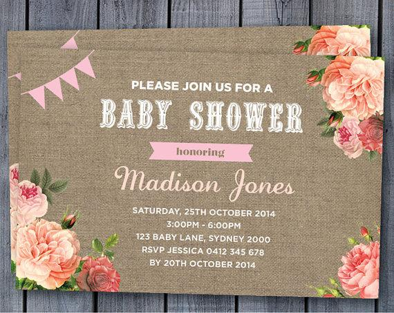 gray invitations retro burlap style lace boy uk shower vintage elephant baby invitation blue