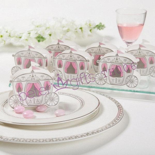 Wedding - 12pcs童話故事馬車喜糖盒糖果盒,結婚用品TH006外貿禮品倍樂婚品