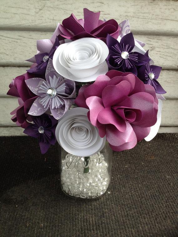Mariage - Paper flower bouquet