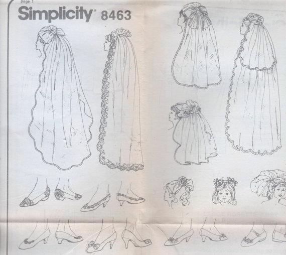 Mariage - Wedding Hats Bridal Veil Headpiece Shoe Decorations Pattern Uncut Flower Girl
