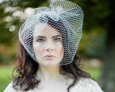Свадьба - French Net Birdcage Wedding Veil, Amelie