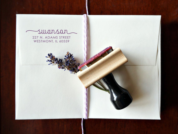 Mariage - Personalized Address Stamp