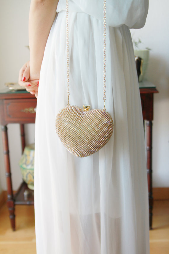 Mariage - Gold Clutch Bag - Bridal Clutch Bag - Wedding Clutch Purse