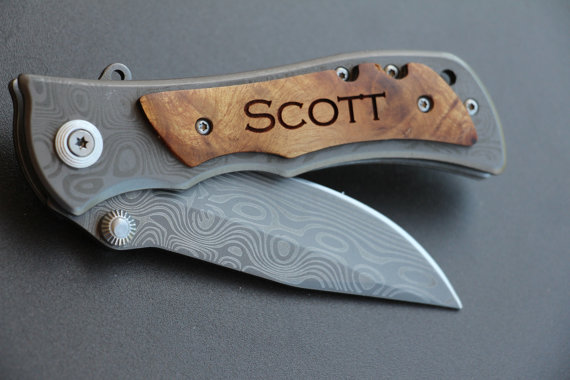 Свадьба - 2 Groomsmen Gifts Personalized Knife Engraved Knife Engraved Pocket Knife Hunting Knife Rescue Knife Custom Groomsman Gifts Gift for Men