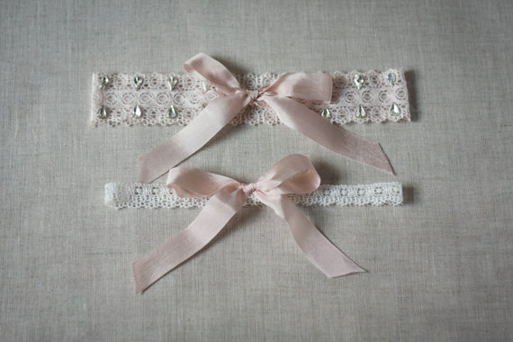 Hochzeit - Isabella Crystal Garter Set, designer garter, wedding garter, bridal garter, bridal lingerie, pink, blush garter, rhinestone garter #520