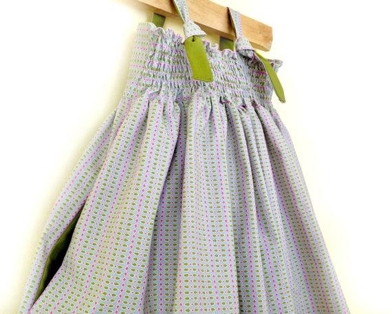 f2739db5c39 Greenwich Grey Dress - Dove Grey Toddler Dress - Grey Girls Dress - Green  and Grey Flower Girl Dress