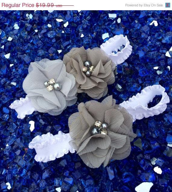 Mariage - Sale ((LOOK)). Grey/ charcoal wedding garter / chiffon flower / wedding garter set / bridal  garter/  lace garter / toss garter included /